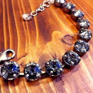 Sabika Classic Bracelet Black Diamond Swarovski